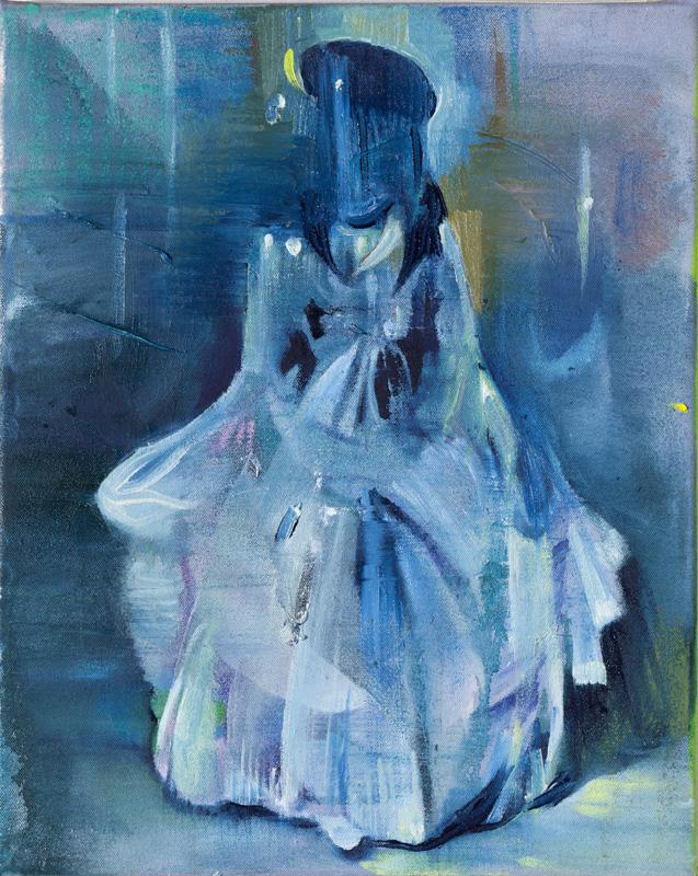 Masquerade, 40 x 32 cm, olie på lærred, 2011