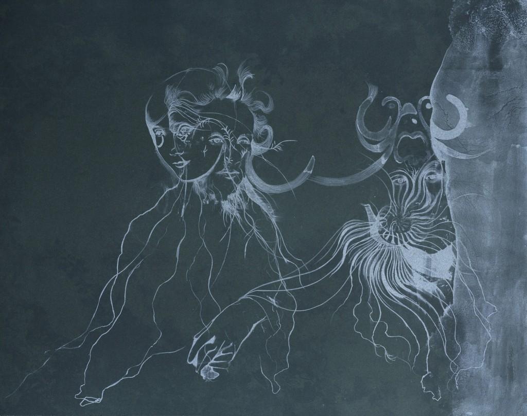 Muschel (Ghost), 2015. Originalt Litografi, 70 x 90 cm