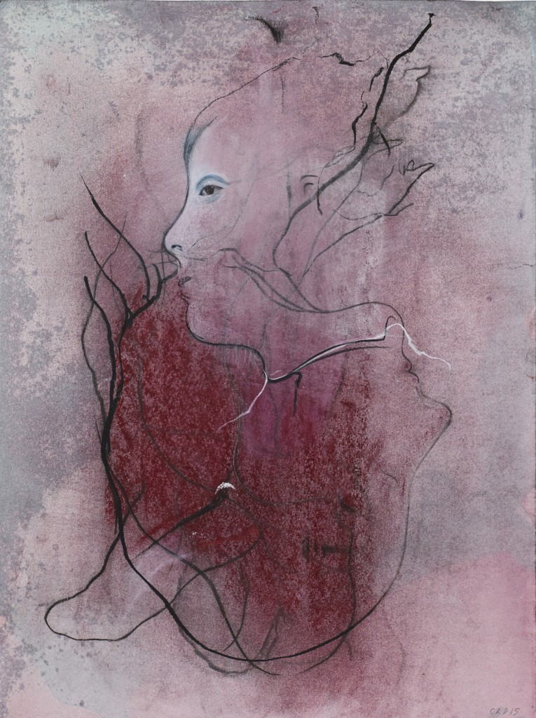 The Red Ribbon (VI), 2015.Mixed media on paper, 35 x 26 cm copy