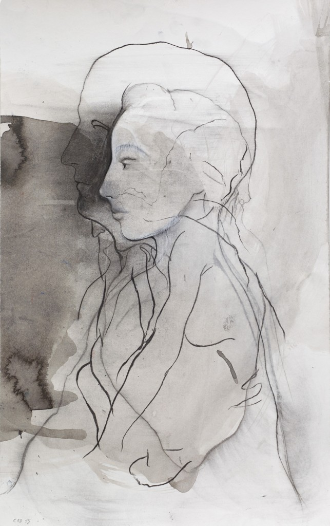 The Seed, 2015. Charcoal, ink, pastel on paper